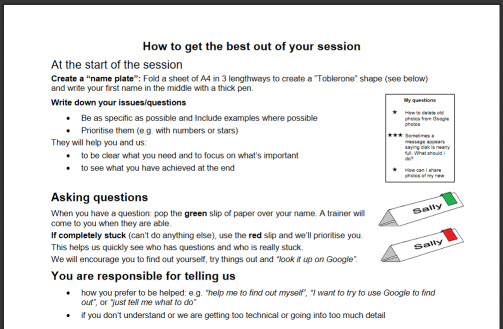 How to get the best out of your session PDF image