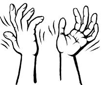 hand signal I agree jazz hands