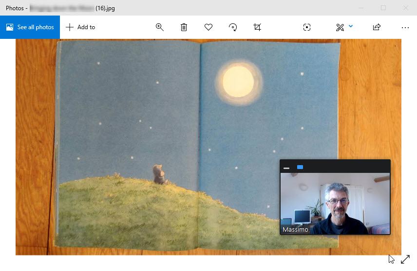 Reading books - Sharing screen 2