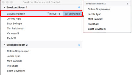 Breakout Rooms - move exchange