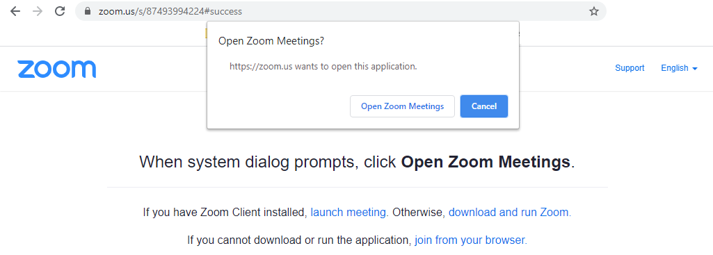 General - start Zoom meeting