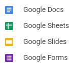 Google doc types