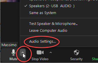 Zoom settings - Audio settings 1