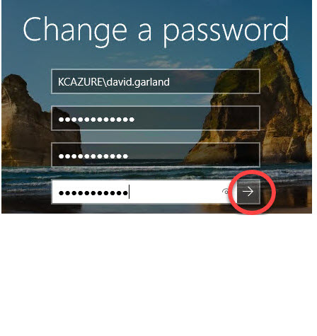 Kingscare Change password 3a