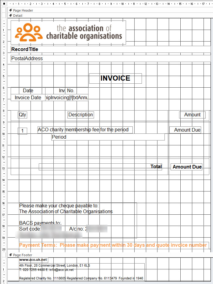 contactLINK - Invoice report example