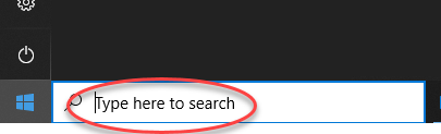 Start Zoom - search area