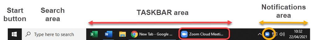 zoom on taskbar