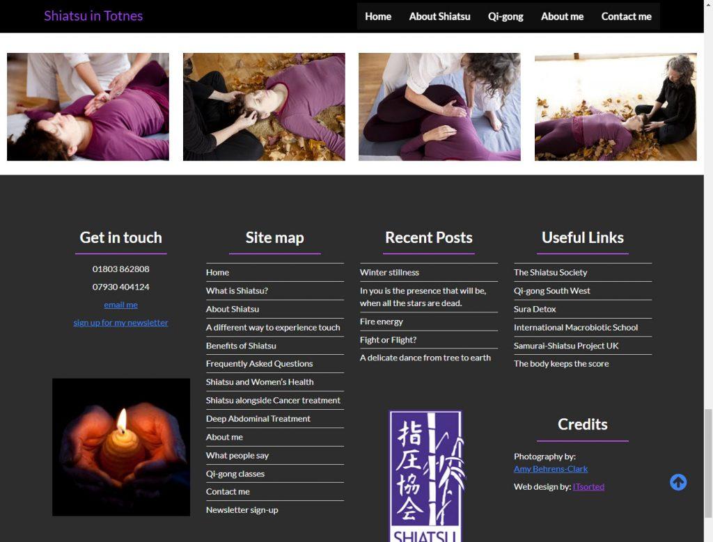ITsorted Website Design - Shiatsu in Totnes